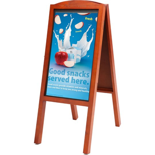 "Clever Canvas 27"" and 32"" Display Advertising Boards in Wooden Frame"
