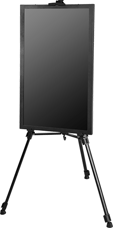 Clever Canvas digital advertising panel with metal frame