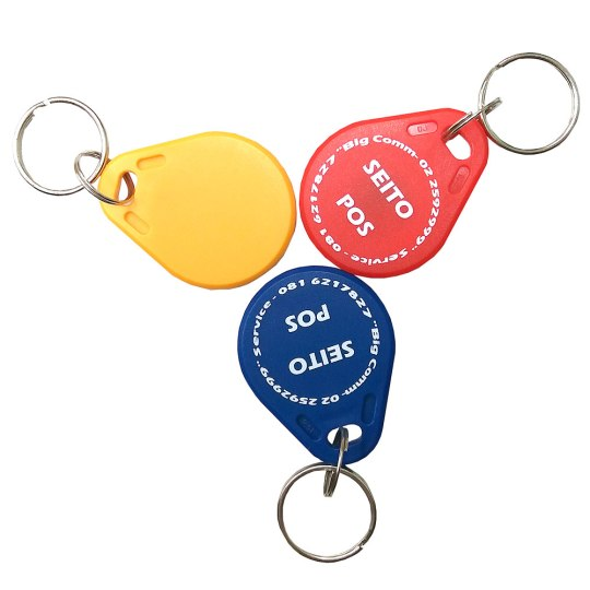 Magnetic Plastic ID Tags (yellow, red, blue) for RFID Card Reader