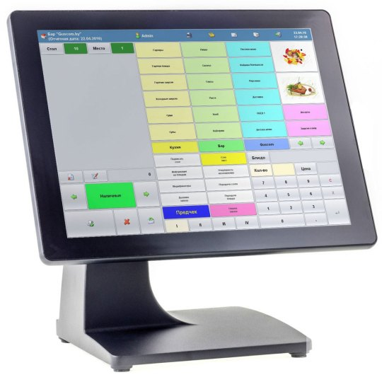 Otek Sys M667 15-inch all-in-one POS terminal, aluminum case, spill proof