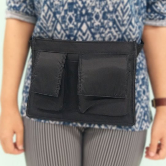 Synthetic waist belt bag for PDA with 2 pockets (for restaurant waiters)