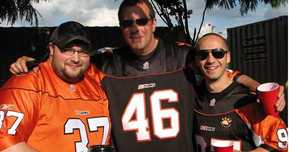 Tailgate Empire Author Nick Herger (Left): Photo: BCLionsDen.ca