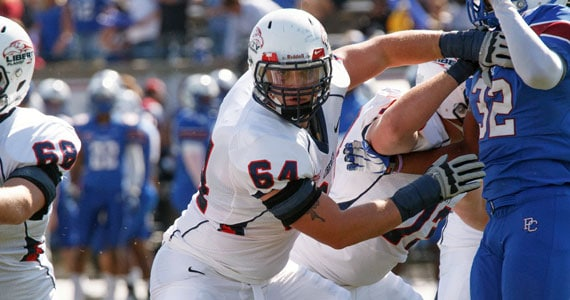 Hunter Steward in action for Liberty University (Photo: Liberty University)