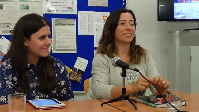 Charla de Alicia Sornosa para BCNTB, con María del Castillo.