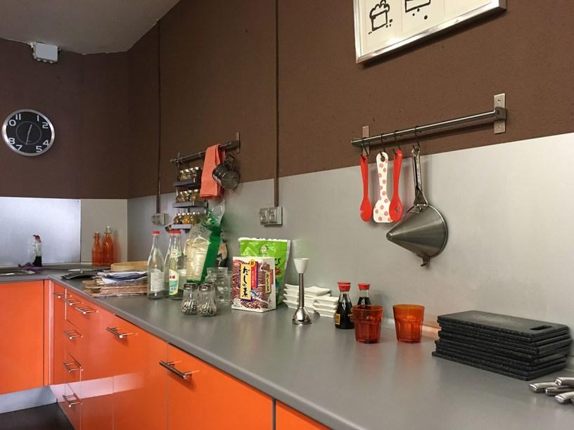 espacio taller de cocina sabores