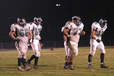 Their goal achieved, the Jags run off the field during Friday's 62-6 win over the Raiders. (Photo: NEWS-PRESS)