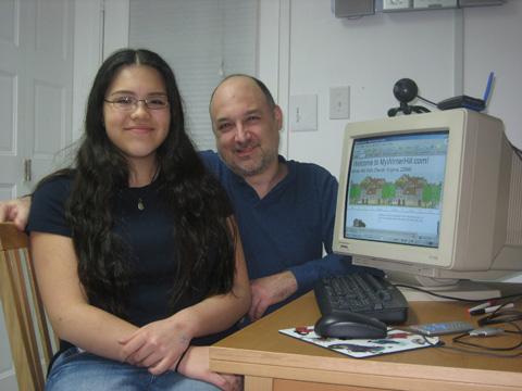 Peter Van Buren and daughter, Sarah Van Buren