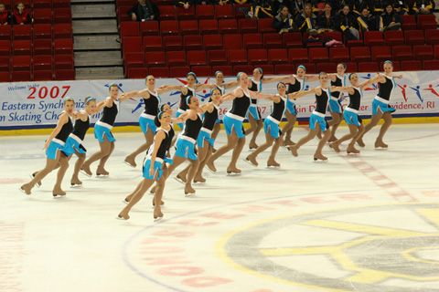 """Members of """"Ice Force One"""" based out of Northern Virginia, Maryland and Washington, D.C., perform in a recent competition. (Photo: Actionphotos.com)"""