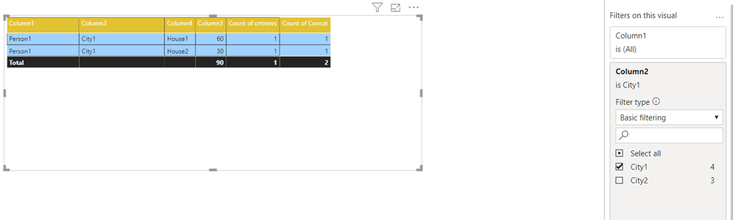 Power BI - Finding total number of rows in a table