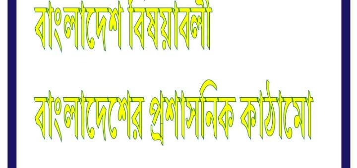 বাংলাদেশের প্রশাসনিক কাঠামো বিসিএস প্রস্তুতি বাংলাদেশ বিষয়াবলী