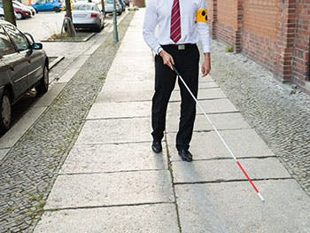 Blind Cane User