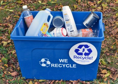 make sure to put any plastic or cans in a proper recyling bin
