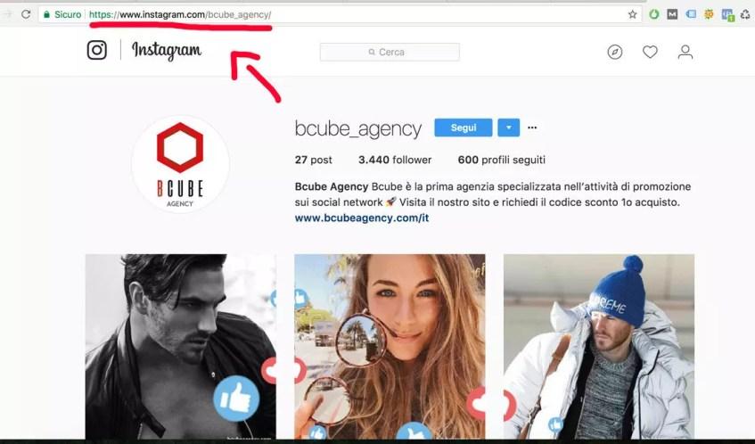 url instagram profilo