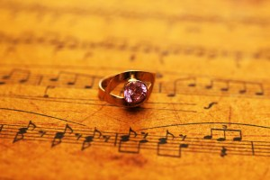 Ring on music sheet
