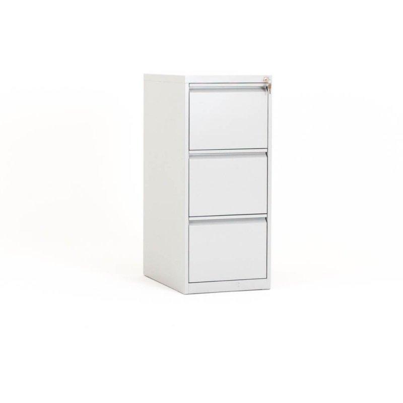 meuble 3 tiroirs pour dossiers suspendus gris clair