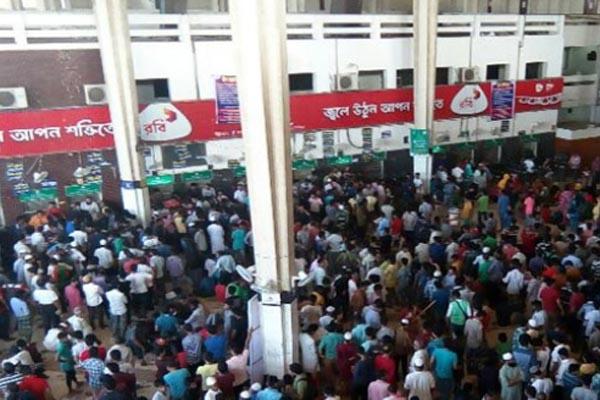কমলাপুরে আজ বিক্রি হচ্ছে ৩ জুলাইয়ের টিকিট