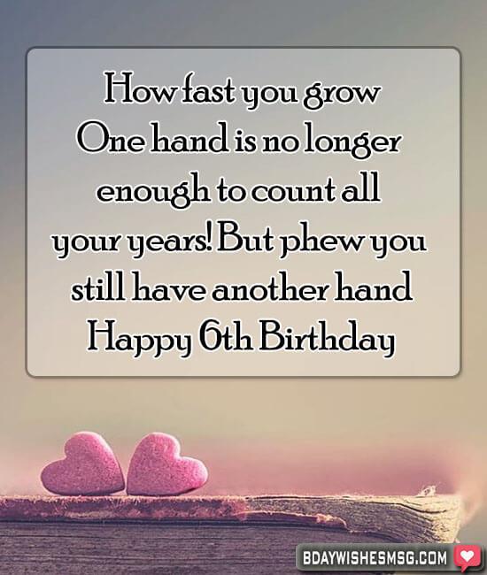 Best Happy 6th Birthday Wishes Bday Wishes Msg