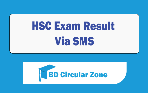 HSC Exam result by SMS