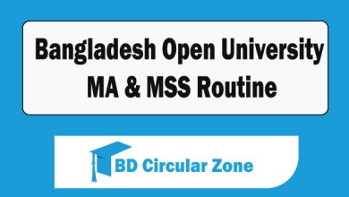 Bangladesh Open University-BOU MA & MSS Routine 2019