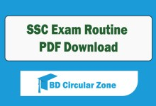 SSC Routine 2020 PDF Download