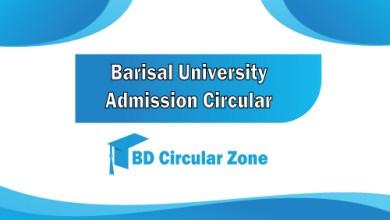 Barisal University Admission Circular 2019-20