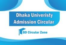 Dhaka University DU Admission Circular 2019-20