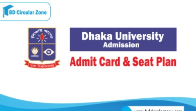Dhaka University DU Admit Card & Seat Plan 2019-20