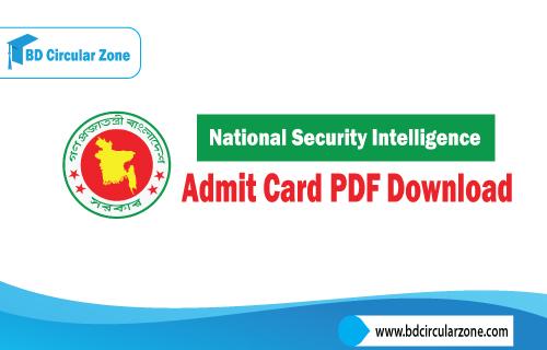 NSI Admit Card 2019