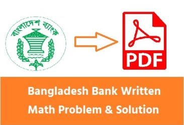 Bangladesh Bank Written Math Problem & Solution