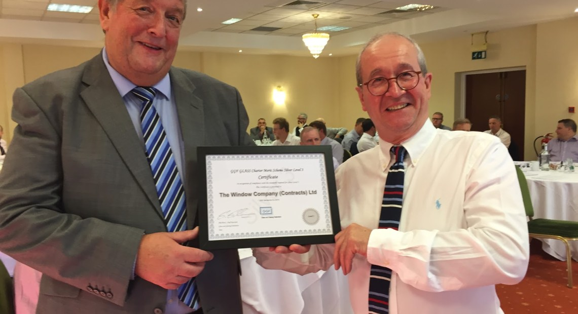 The Window Company (Contracts) Ltd. Recognised at Silver Level 3 for GLASS Charter Merit Scheme