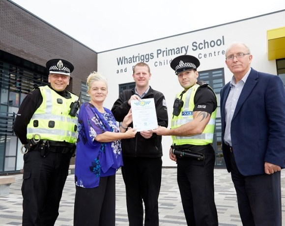 Secured By Design Award Given to Whatriggs Primary School