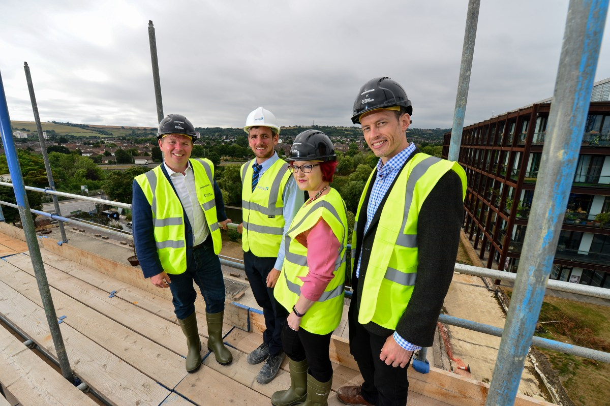 "BRAND NEW HOMES IN SOUTH BRISTOL A STEP CLOSER,  AS DEVELOPERS ""TOP OUT"" NEW COPPER BUILDING"