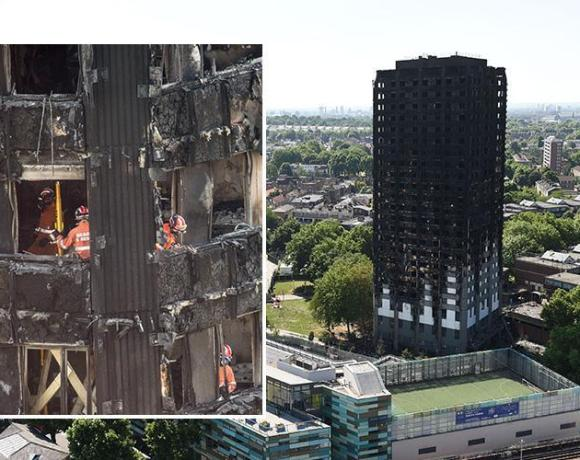 Tests on aluminium cladding panels, of the type used on the Grenfell Tower, have shown that the presence of water may cause violent chemical reactions and accelerate flames.