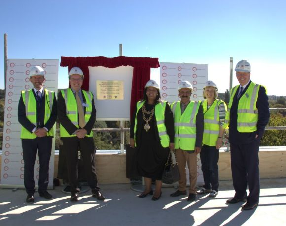 More than 100 guests donned their hard hats and gathered on site at the new £33.5m Circle Birmingham Hospital in Edgbaston for a ceremony to mark the project's progress.