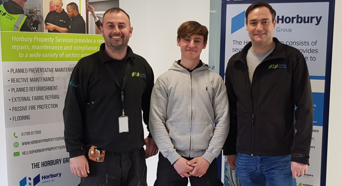 Curtis Hope has been selected to receive an award run jointly by The Sheffield College and repairs, maintenance and compliance business Horbury Property Services