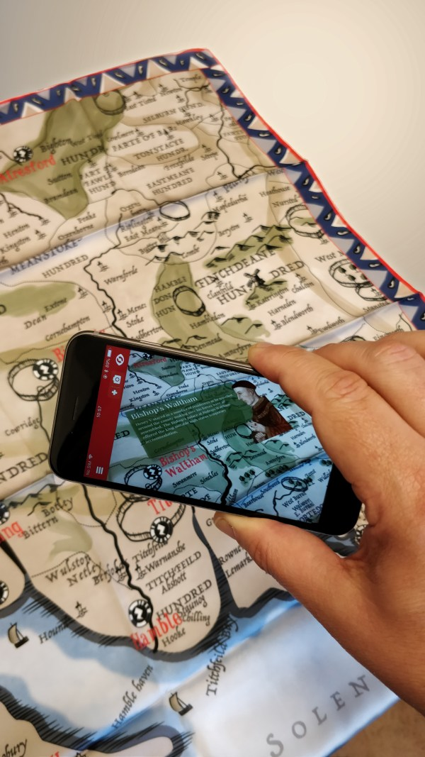Augmented Reality Medieval Map of Hampshire