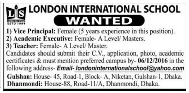 London International School.