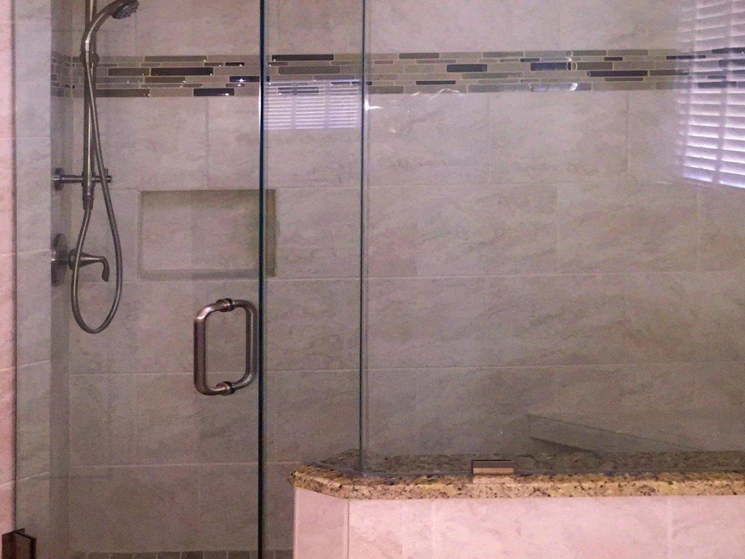 Elegant Soft Marble Contemporary Master Bath