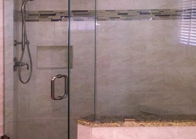 Elegant Soft Marble Contemporary Master Bath