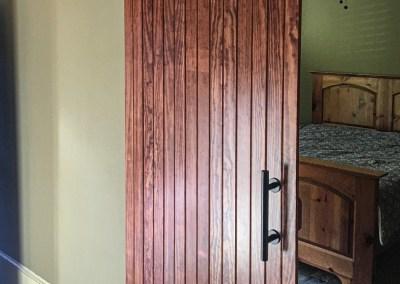 Basement with Sliding Barn Door