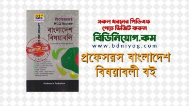 Proffesors BCS Bangladesh Bisoyaboli PDF Download