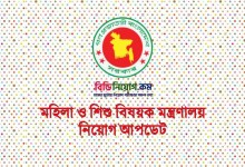 Photo of Ministry of Women and Children Affairs Job Circular 2020