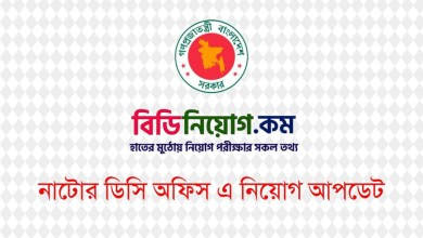 Photo of DC Office Natore Job Circular 2020 – www.natore.gov.bd