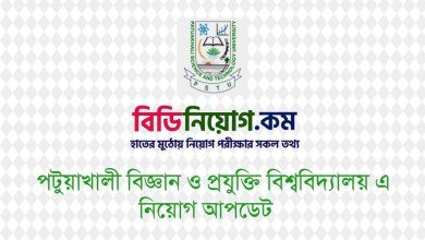 Photo of Patuakhali Science & Technology University Job Circular 2020 – www.pstu.ac.bd