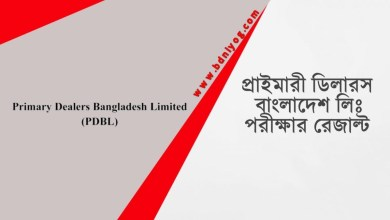 Primary Dealers Bangladesh Limited Exam Result