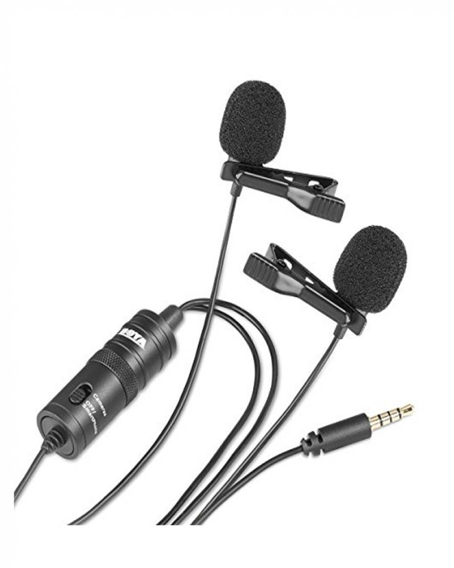 1534579618 Boya Dual lavalier Microphone M1DM