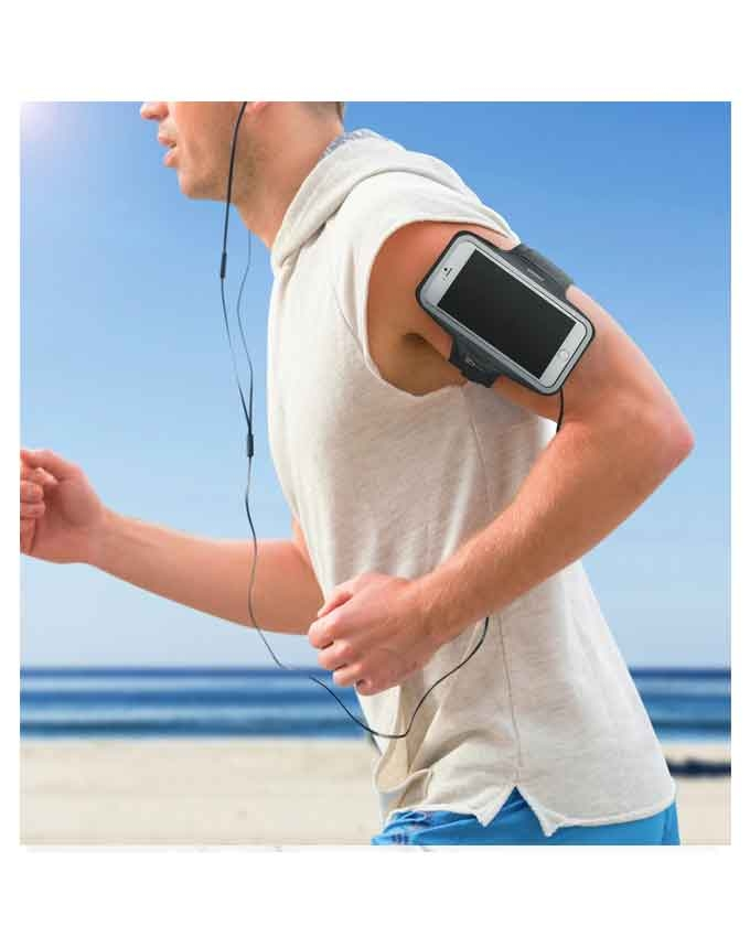 1551685672 Mobile Sports Running Arm Band - Black