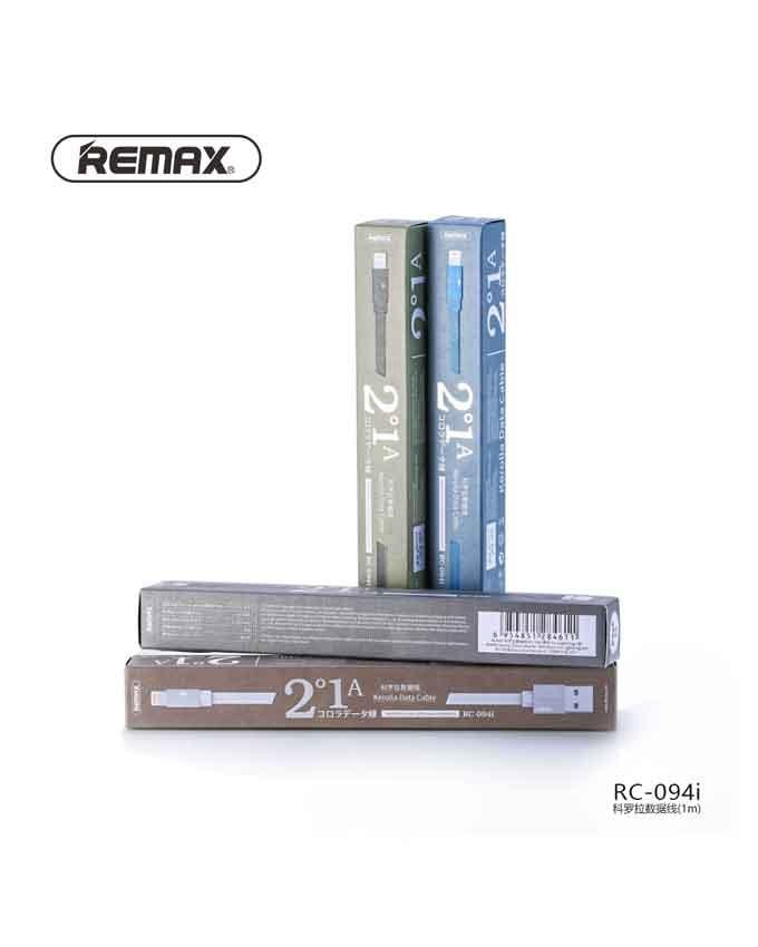 1560757466 Remax RC-094i (2m) Kerolla Series Lightining Data Cable - Black