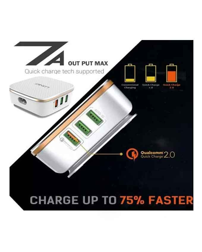 1577866232 1 LDNIO A6704 6 USB Ports With Auto ID and Qualcomm 3.0 Quick Charge Technology
