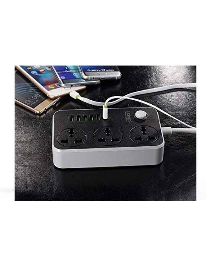51GWHRe39L. AC 1 LDNIO SC3604 3.4A 2500W 6 USB Ports Power Strip - Grey